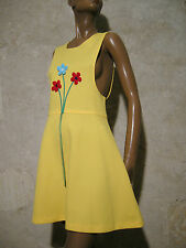 CHIC VINTAGE ROBE POP 1970 VTG DRESS 70s KLEID 70er ABITO ANNI 70 RETRO (36/38)