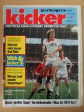 KICKER 1/2 -2.1. 1979 * Dieter Müller Bernd Cullmann Sport-Termine Skispringen