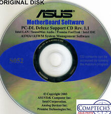 ASUS GENUINE VINTAGE ORIGINAL DISK FOR PC-DL Deluxe Motherboard Disk S052