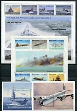SIERRA LEONE 1995 END OF WORLD WAR II - SHIPS - AIRPLANES MINT SET - $27 VALUE!
