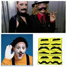 12pcs Funny Fake Mustache Moustache Funny Fake Beard Whisker Costume Party NEW&