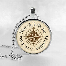 Lord Of The Rings Necklace, Not All Who Wander Are Lost, Quote Necklace, LOTR, Q
