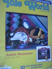 Tole World Magazine J/F 1993 Amish Mememtos, Canada Goose, Doll, Rabbit +