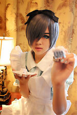 USA Ship! Kuroshitsuji Black Butler Ciel Phantomhive Slate Blue Cosplay Wig CW07