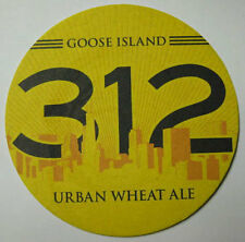 312 URBAN WHEAT ALE Beer COASTER, Mat, Goose Island, Chicago, ILLINOIS 2012 NICE