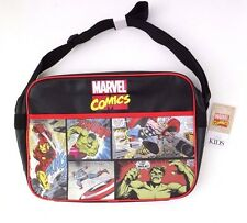 "RARE Marvel Comics M&S Kids Retro Licensed Messenger Shoulder Bag 16"" Diagonal"