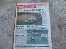 Motoring News 27 August 1981 Midas Alfasud 1.5 Ti Lindisfarne Rally NASCAR