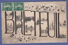 A320) Carte postale ancienne CPA-OISE-60 BRETEUIL belle carte décorative 1908