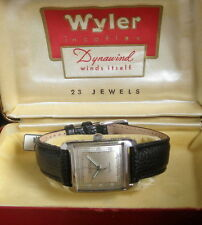 Mens 1952 Wyler Dynawind 23j Automatic S/S Doctors Dial Watch + Box & Papers
