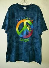 Nice MGM GRAND LAS VEGAS RAINFOREST CAFE  L Tee Shirt Rainbow Peace Sign w/Frog