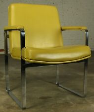 Vintage Mid-Century Modern Chromcraft-style Chrome Flat-Bar Chair