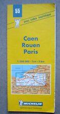 CARTE ROUTIERE MICHELIN N°55 / CAEN ROUEN PARIS /1999