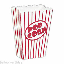 8 Hollywood Classic Red White Stripe Cinema Style Movie SMALL Popcorn Boxes