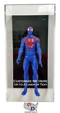"Custom Wall Mount Action Figure Display Case Box 12"" 1:6 Scale 1/6 Add Your Text"