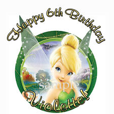 TINKERBELL Round Edible ICING Image CAKE Topper Party Decoration FAIRIES