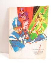 1971 Football Program: Lockhaven State College vs Clarion State College