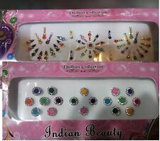 2 Pack Bindis Studded With Rhinestones/Indian multi Style multi Colored bindi