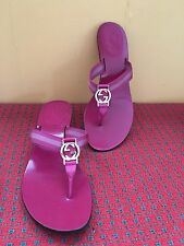 Gucci Womens 8 B Pink/Fuchsia  Signature Logo  Sandals Italy