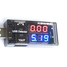 USB Charger Current Voltage Charging battery Tester Digital LED V meter Ammeter