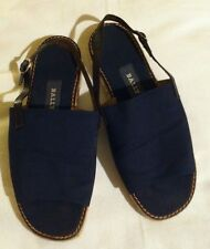 Ladies Blue Fabric Sling back Bally Sandals Espadrilles Size 4