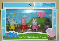 "PEPPA PIG 3"" PEPPA PIG'S MUDDY PUDDLES FRIENDS FIGURES 4 PACK"