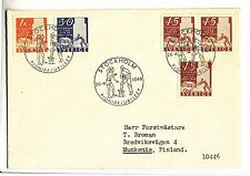 1948 SWEDEN Letter to FINLAND CANCELS USA PIONEER JUBILEUM-3x15 Ore+30+Kr1-g687