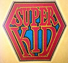 Vintage 70s Super Kid Iron-On Transfer Superman Full Glitter Original RoAcH RARE