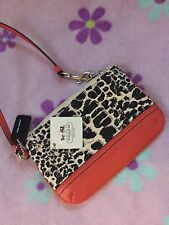 NWT COACH LEGACY OCELOT PRINT SMALL WRISTLET 47999 iphone accessories