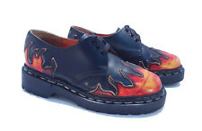 Tredair Dr. Martens Doc England Vintage Flame Black Leather Oxfords UK 3 US 5