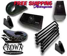 "Crown Suspension 1500HD 2500HD 3500HD 1-3""F 4""R Lift Block Kit UBolt Torsion Key"