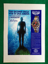 OG86 Pubblicità Advertising Werbung Clipping - STENDARDO IMMERSION OROLOGI WATCH