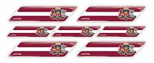 Latvia Latvian Riga flag 3d domed emblem decal sticker BMW Ferrari Porsche AUDI