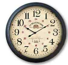 "Extra Large Glass Front Retro Shabby Chic Wall Clock 93cm Diameter (36"" +) 6847"