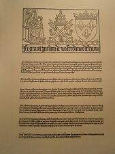 Planche gravure Religion Moyen age Le grand pardon de Notre dame de Rains Reims