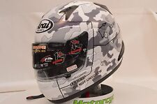 Arai Signet-Q Pro Tour Tactic White Full Face Racing Motorcycle Helmet XL 818104