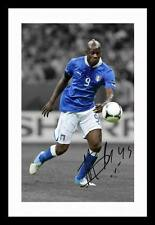 MARIO BALOTELLI - ITALY AUTOGRAPHED SIGNED & FRAMED PP POSTER PHOTO