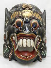 """Wooden Barong Mask Hand Carved&Hand Painted Wood Bali Wall Decor 18 1/2"""" #N1498"""