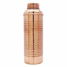 Traditional Copper 800 ML Bottle Water Storage Flask Ayurvedic Health Benefits