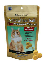 NaturVet Natural Hairball CAT Plus Vitamin  Minerals 2-in-1 Soft Chew - 50 ct