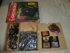 BOXED SEGA GENESIS SYSTEM THE LION KING PACK & GAME LOT FANTASIA TALE SPIN CIB