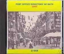 GENEALOGY DIRECTORY OF BATH & DISTRICT 1895 CD ROM
