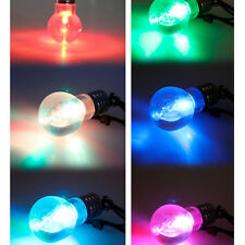 LED Magnetic Change Color Light Bulb Charm Pendant Necklace Gift Xmas Party