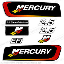 Mercury 2.5L Alien Cowl Outboard Engine Decal Kit Lightweight 2.5 Race Offshore