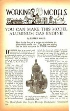 Plans, Elmer Wall 36 CC 1 cyl gas engine, 2 cycle CA 1929, CD-ROM hit & miss !