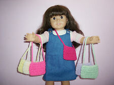 6 Hand Crochet Purses For The American Girl Doll