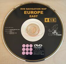 Toyota, Lexus ORIGINAL Navigation DVD Update Map E1E 2017 East Ost Europa