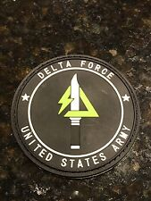 Delta Force US Army Special Force Counter Terrorism Hostage Rescue PVC Patch BLK