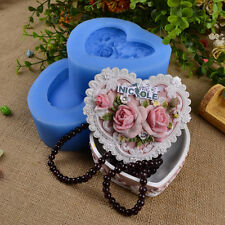 Heart Jewellery Box Resin Craft Mold Jelly Pudding Chocolate Silicone Soap Mould