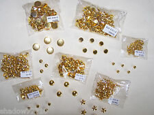 500 gemagic GOLD fashion studs flats stars studs refill set candle decoration ++