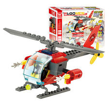 89Pcs Assembling Fire Fighting Helicopter Building Blocks Kid Creative Toys Gift